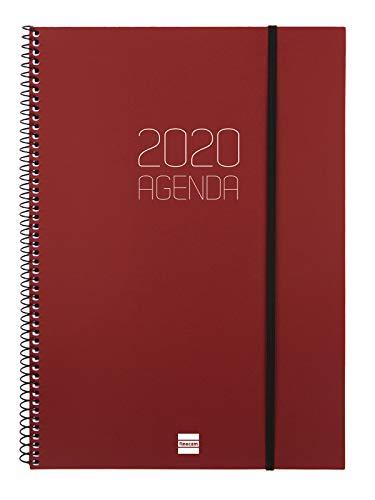 Finocam - Agenda 2020 semana vista apaisada Espiral Opaque...