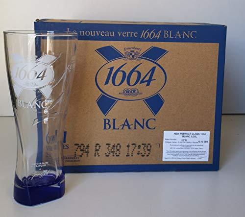 Juego de 6 vasos de cerveza 1664 (25 cl), color blanco