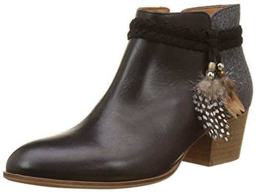 Schmoove Secret Boots, Bottines Classiques Femme, Noir (Black/Grey), 38 EU