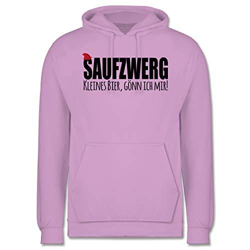 Shirtracer Karneval & Fasching - Saufzwerg - schwarz - M - Lavendel - Spruch - JH001 - Herren Hoodie und Kapuzenpullover für Männer