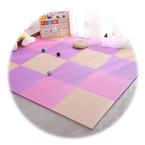 WWERT Alfombra Piso de Enclavamiento Alfombra Puzzle de PE Tapete Juego Rompecabezas Alfombrillas de Suelo For Ejercicio Amplios Usos de Negocios y Hogar (Color : C, Size : 30x30x2.5cm-12pcs)