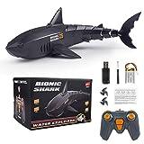 Msoah 2.4GHz Juguetes RC Tiburón Flexibles,Barco De Juguete Eléctrico con Control Remoto Bajo El Agua Shark Toy, Juguete Regalo De Piscina para Niños