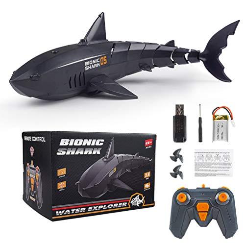 Msoah 2.4GHz Juguetes RC Tiburón Flexibles,Barco De Juguete Eléctrico con Control Remoto...