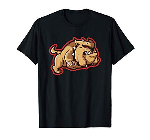 Running British Bulldog English Spike Collar Hound Dog T-Shirt