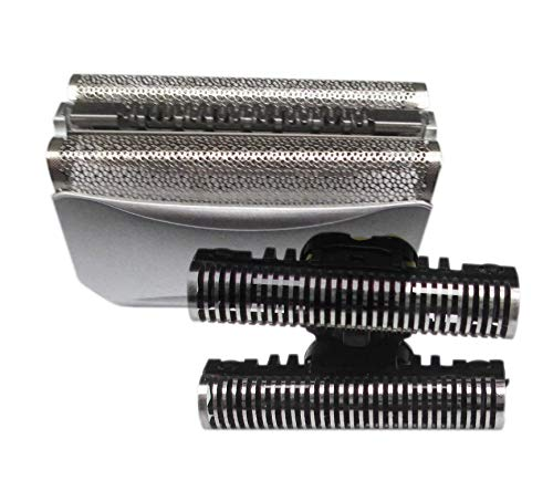 Ultra-sharp 51S Foil & Cutter for Braun 8000 Series 360 Complete Activator ContourPro 5643 5645 8970 8975 8985 8987 Silver