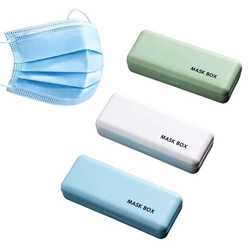 YUIP 3Pcs Teilige Masken-Aufbewahrungsbox Masken-Aufbewahrungsbox-Set ragbare Aufbewahrungsbox Geeignet zur Aufbewahrung von Masken Kopfhörerkabeln Zubehör Münzen Buskarten usw.