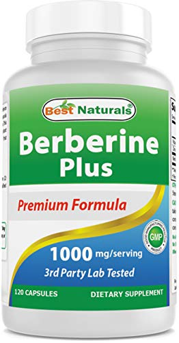 Best Naturals Berberine Plus 1000mg/Serving 120 Capsules - Promotes Healthy Healthy Glucose Metabolism & Immune Function - Contains Vitamin C & Zinc Gluconate