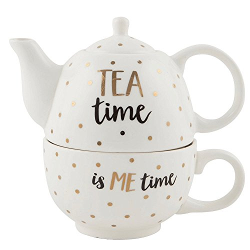 Tea Time Tea For One Teapot Teacup Set