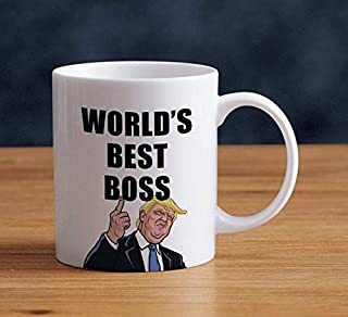 DonaDona World's Best Boss – 11 oz Coffee Mug, White