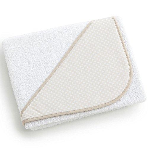 Pekebaby Capa de baño para bebe (100x100 cm) CUADRO beig
