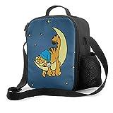 Bolsa de almuerzo aislada Garfield lonchera con forro acolchado aislante bolsa térmica