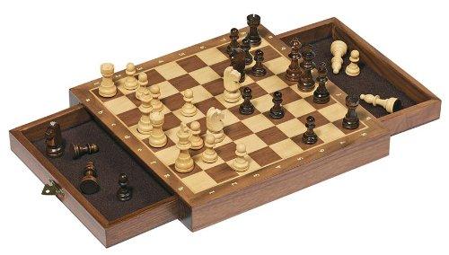 Goki 56919 - Magnetisches Schachspiel mit Schubladen