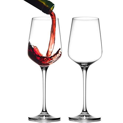 BEYIMEI Bicchieri da Vino Bordeaux, Vetro da Vino in Cristallo soffiato a Mano calici da Vino Rosso, Senza Piombo, di Alta qualità, Adatto per Matrimoni, anniversari, 450 ml/Set da 2