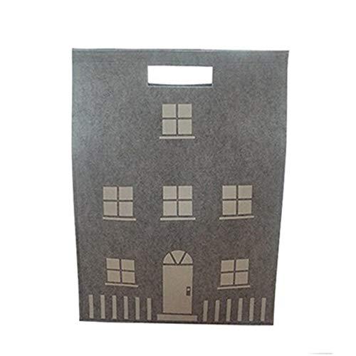 Opbergdozen MYKK Huis Opbergtas Wolvilt Woondecoratie Voor Kleding Pop En Kerstbal Organiseer Doos 55 * 40cm Grijs
