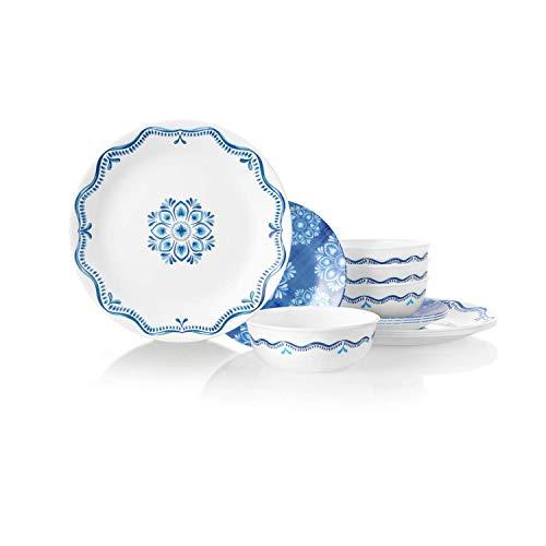 Corelle Chip Resistant Dinnerware Set, 18-Piece, Lisbon Terrace