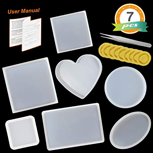 Silicone Resin Molds 7 pcs