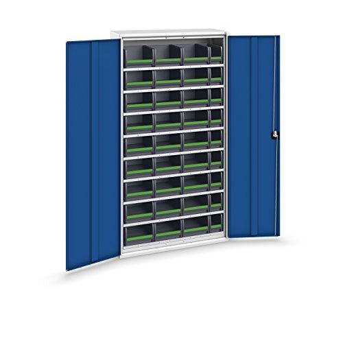 bott verso+ Systemschrank mit 9 Fachböden und 36 bottBoxen, 1050 x 450 x 2000 mm, 1 Stück,...