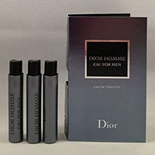 3 Dior Homme Eau for Men EDT Spray Vial Travel Sample .03 Oz/1 Ml Each Lot