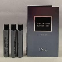 3 Dior Homme Eau for Men EDT Spray Vial Travel Sample .03 Oz/1 Ml Each Lot