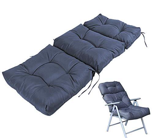 JSMY Sun Lounger Kissen Wasserdichtes Gartensofa Stuhllehne mit hoher Rückenlehne Relaxer Recliner Sitzkissen für Sonnenliegen Außenterrasse