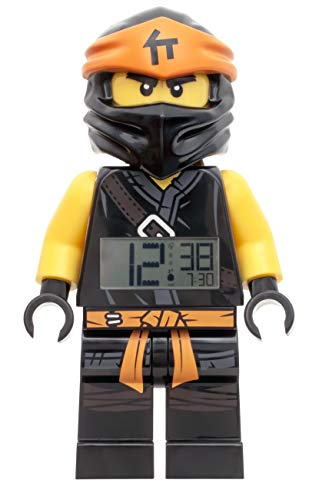 Wecker Lego Ninjago Cole, digitales LCD Display mit Hintergrundbeleuchtung, Weck- und Schlummerfunktion, ca. 24 cm