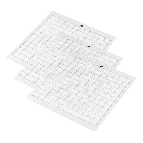 Aibecy- Alfombrilla de corte de repuesto para máquina de plotter de corte estándar de 12 pulgadas por 12 pulgadas con rejilla de medición para silhouette Cameo 12in * 12in 3 pcs