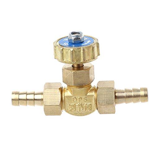 Distribuidor de grifo de agua con codo de latón, válvula de aguja de 8 mm, propano, butano, regulador de gas, piñas, 1 MPa