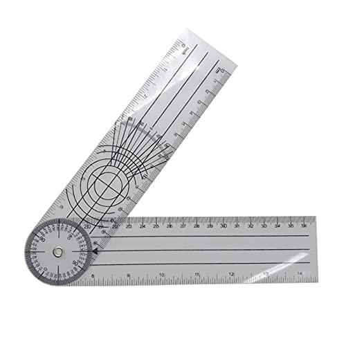 WJQ PGONE 0-140mm 360 Grados goniímetro ángulo médico ángulo espinal Regla ángulo inclinómetro Ruler Protractor ángulo Finder Herramienta de medición