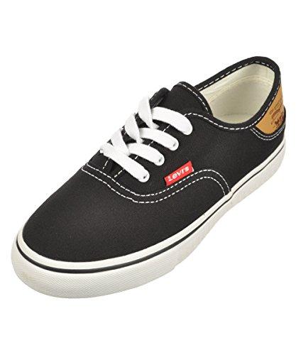 Levi's Jordy Buck Girls' Toddler-Youth Sneaker 11 M US Little Kid Black-Brown
