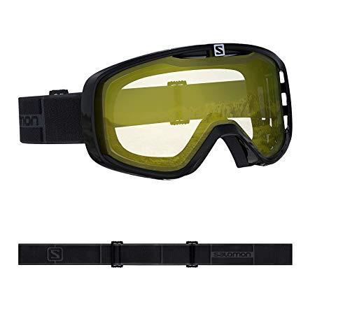 Salomon, Aksium Access, Unisex-Skibrille, Schwarz/Lowlight Yellow, L40845600