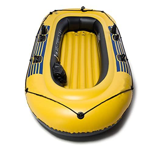 LANGTAOSHA Juego De Botes Inflables, Botes De Remo para Kayak Inflables para Adultos, Bote De Deriva Plegable Resistente Al Desgarro De Pesca Engrosado, con Bomba De Aire Y Remos,3 Person