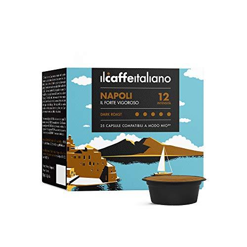 Il Caffè Italiano100 Kaffeekapseln mit dem Lavazza A Modo Mio System kombpatible - Mischung Napoli, Intensität 12.