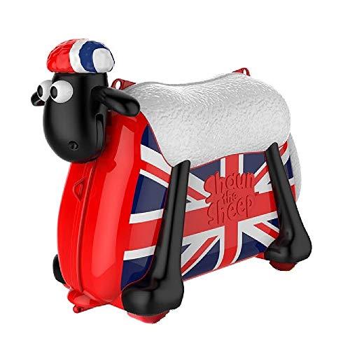 ひつじのショーン 乗って遊べる 子ども スーツケース こども用 乗用玩具 機内持ち込み可 バッグ 旅行 キッズ かばん 乗れるキャリーバッグ Shaun The Sheep Ride on Suitcase British saipo [並行輸入品]