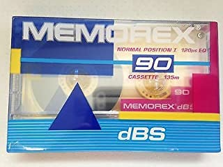Memorex dBS 90 Audio Tapes Cassette 5/Pack