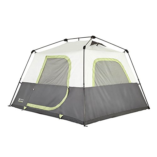 Coleman Company Signature Instant Cabin 6 Person Double Hub Tent, Black/Grey
