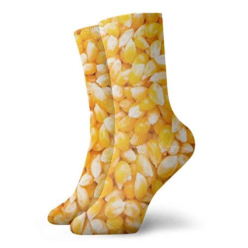 Kevin-Shop Fondo de Semillas de mazorca de maíz Calcetines Unisex Calcetines Suaves...