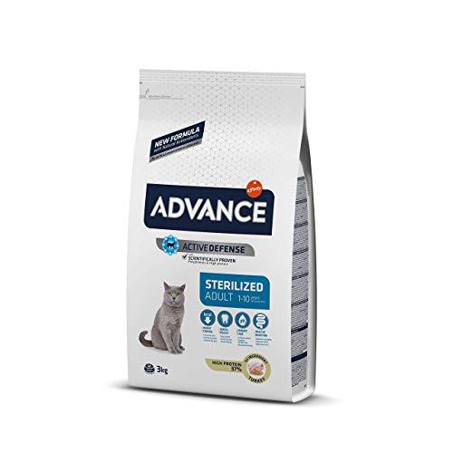 ADVANCE Pienso para Gatos Esterilizados Adultos con Pavo - 3Kg ✅