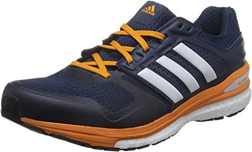 adidas Herren Supernova Sequence Boost 8 Laufschuhe, Mehrfarbig (Collegiate Navy Blau/Weiß/EQT Orange), 46 EU