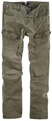 Black Premium by EMP Cargohose Männer Jeans Oliv W32L32 98% Baumwolle, 2% Elasthan Basics, Casual Wear