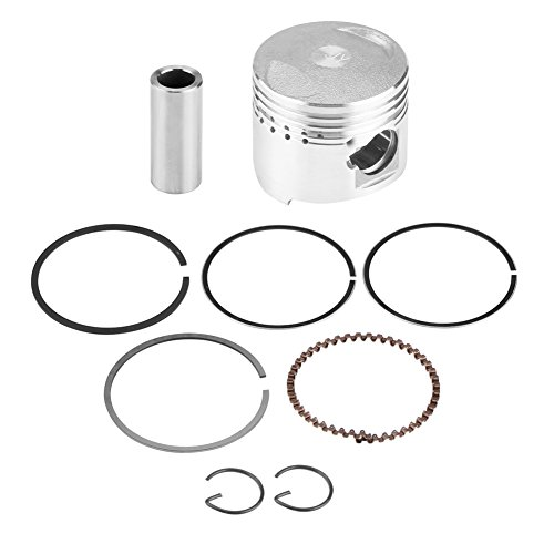 KIMISS Cilindro del filtro de Pistón con anillos de montaje, 39mm Kit de aros de pistón para 50CC Motor Horizontal Scooter Moto ciclomotor