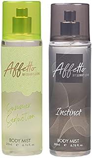 Affetto By Sunny Leone Summer Seduction & Instinct Body Mist - For Women 200ML Each (400ML, Pack of 2)