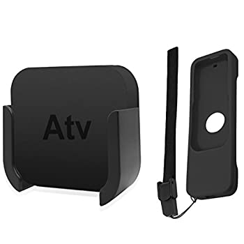 TV Mount Compatible with Apple TV 4th and 4K 5th Generation SourceTon Wall Mount Compatible with Apple TV 4th / 4K 5th Gen Bonus Protective Case Compatible with Apple TV 4K / 4th Gen Siri Remote