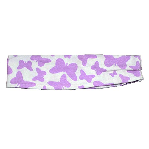 Esme Girl's Comfortable Soft Sports Headband Lavender Butterfly