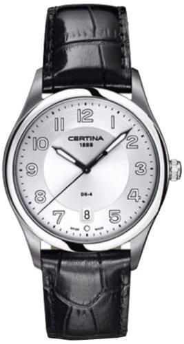 Certina - Reloj Analógico de Cuarzo para Hombre, Correa de Cuero Color Multicolor