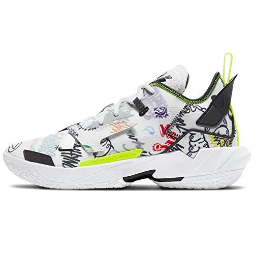Nike Jordan Why Not ZER0.4, Zapatillas de bsquetbol Hombre, Photon Dust Black Volt Univ Red Lucky Green Total Orange, 35.5 EU