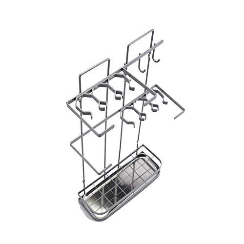 con Vassoio antigoccia Rimovibile portaombrelli Rettangolare LZ-SNAIL Porta ombrelli Portaombrelli in Metallo Color : White, Size : 42/×18/×42cm Bianco Intagli Rotondi