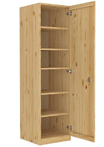 Erst-Holz® Abschließbarer Massivholzschrank als Spind mit vielen Fächern aus Kiefer 90.60-45