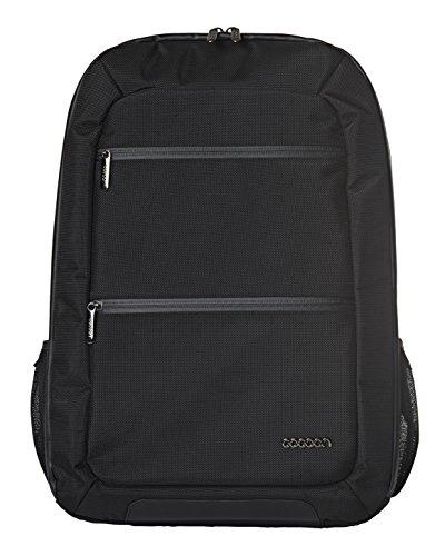 Cocoon SLIM - Laptop Rucksack mit besonderem Organisationssystem / Praktischer Backpack für Laptops / Daypack / Rucksack für Tablet, Laptop I 2 Reißverschlussfächer / Schwarz - 10