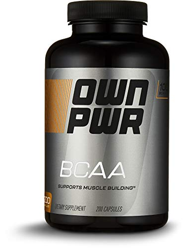 OWN PWR BCAA (Branched Chain Amino Acid) 1000 MG per Serving (2 Capsules), 200 Capsules