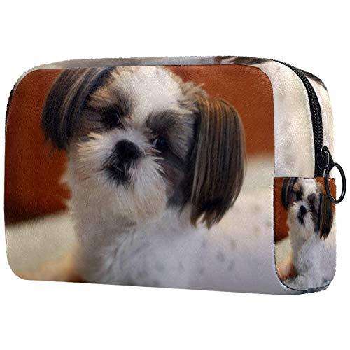 FURINKAZAN Shih Tzu Dog Puppy Travel Makeup Bag for Toiletries Bag Makeup Pouch Men & Women